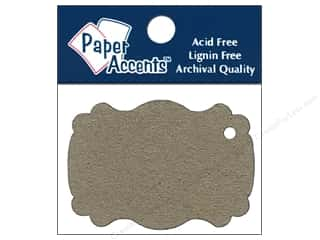 Paper Accents Chipboard Shape Marquee #1 Tag 12 pc. Kraft