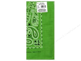 Scarf / Scarves Fabric Painting & Dying: Darice Bandana 22 x 22 in. Lime Paisley