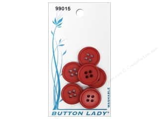 JHB: JHB Button Lady Buttons 5/8 in. Red #99015 6 pc.