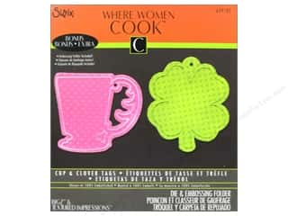 Tea & Coffee $0 - $2: Sizzix Bigz Die with Bonus Textured Impressions Cup & Clover Tags by Where Women Cook
