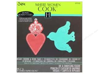 Tags Valentine's Day: Sizzix Bigz Die with Bonus Textured Impressions Heart Crown & Bird Tags by Where Women Cook
