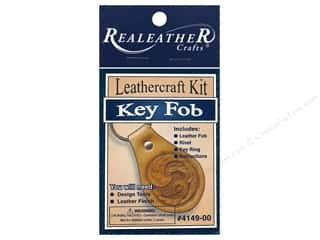 Leather Supplies Kits: Silver Creek Leathercraft Kit Key Fob Natural