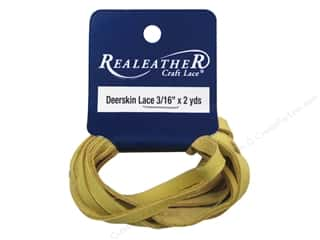Silver Creek Deerskin Lace 3/16 in. x 2 yd. Buckskin