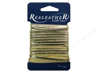 Leather Supplies: Silver Creek Metallic Lace 5/32 in. x 8 yd. Gold