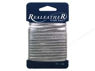 Leather Supplies: Silver Creek Metallic Lace 5/32 in. x 8 yd. Silver
