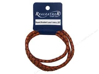 Leatherwork mm: Silver Creek Leather Lace Braided 5 mm x 24 in. Cognac