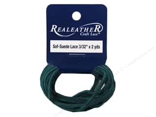 Leather Supplies inches: Silver Creek Soft Suede Lace 3/32 in. x 2 yd. Pacific Green