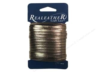 Leather Supplies: Silver Creek Metallic Lace 5/32 in. x 8 yd. Bronze