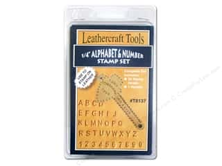 Leatherwork Clear: Silver Creek Stamp Set 1/4 in. Alphabet & Numbers