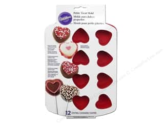 Wilton Molds Silicone Petite Heart 12 Cavity
