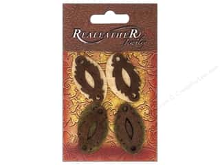 Leather Supplies Leather Piece: Silver Creek Suede Shapes Leaf & Oval Earth Tones