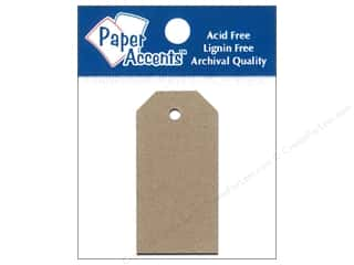 Paper Accents Craft Tags 0.875x1.75 25pc Brn Bag