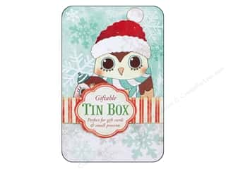 Punch Studio Gift Card Holder Winter Owls Holiday