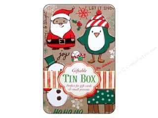 Tin Containers Clearance Crafts: Punch Studio Gift Card Holder Holiday Craft Tin