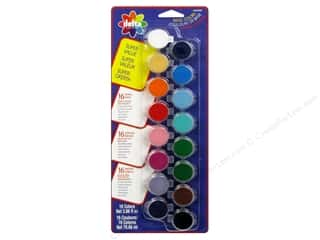Clearance Art Institute Glitter 1oz Glass Shards: Delta Ceramcoat Paint Pot Set Super Value Basic - 16 Colors