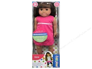 Vinyl Brown: Fibre-Craft Springfield Dolls 18 in. Brunette Emma