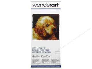Projects & Kits Kits: Wonderart Latch Hook Kit 12 x 12 in. Puppy Love