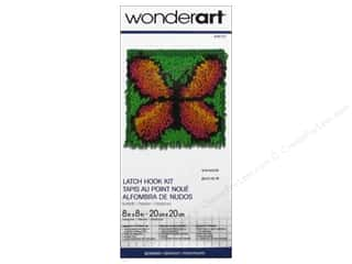 Family Yarn & Needlework: Wonderart Latch Hook Kit 8 x 8 in. Butterfly