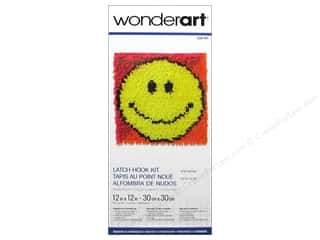 Family Yarn & Needlework: Wonderart Latch Hook Kit 12 x 12 in. Smiley Face