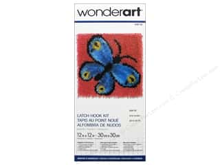 Family Yarn & Needlework: Wonderart Latch Hook Kit 12 x 12 in. Butterfly