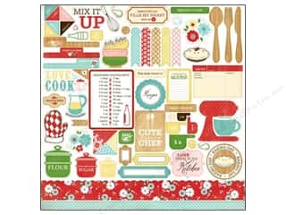 "Carta Bella Sticker 12""x 12"" Homemade Element (15 set)"