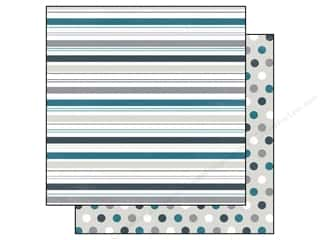 Clearance Blumenthal Favorite Findings: Echo Park 12 x 12 in. Paper Let It Snow Stripe (15 piece)