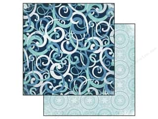 Echo Park Paper Company Decorative Brads: Echo Park 12 x 12 in. Paper Keepin' Coz Collection Winter Swirls (25 pieces)