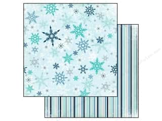 fall sale glue dots: Echo Park 12 x 12 in. Paper Keepin' Cozy Snowflakes Fall (25 piece)