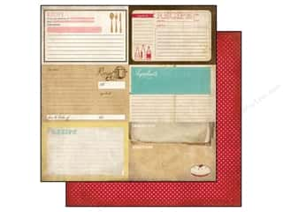 Carta Bella Paper 12x12 Homemade Recipe Cards (25 piece)
