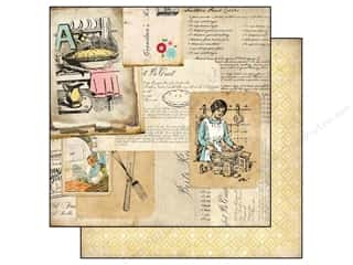 Carta Bella 12 x 12 in. Paper Grandma's Recipes (25 piece)