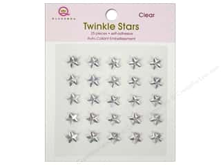 Queen & Company Stickers: Queen&Co Sticker Twinkle Stars Clear