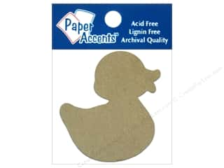 Paper Accents Chipboard Shape Rubber Duck 8 pc. Kraft