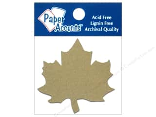 Paper Accents Chipboard Shape Maple Leaf 8 pc. Kraft
