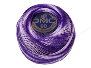 Tatting DMC Brilliant Tatting Cotton Size 80: DMC Tatting Cotton Size 80 #52 Variegated Purple (10 balls)