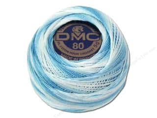 cord yarn accessory: DMC Tatting Cotton Size 80 #67 Variegated Baby Blue (10 balls)