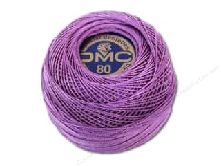 cord yarn accessory: DMC Tatting Cotton Size 80 #553 Violet (10 balls)