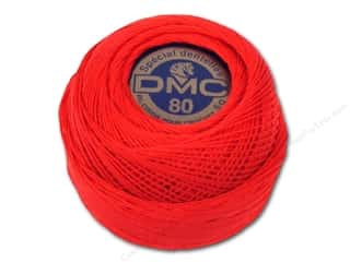 DMC: DMC Tatting Cotton Size 80 Red (10 balls)