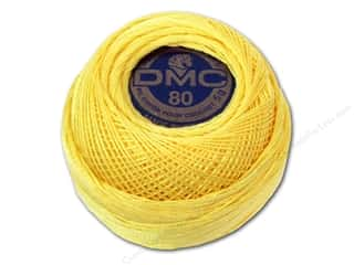 Tatting DMC Brilliant Tatting Cotton Size 80: DMC Tatting Cotton Size 80 # 744 Pale Yellow (10 balls)