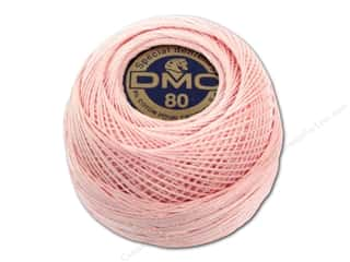 cord yarn accessory: DMC Tatting Cotton Size 80 #818 Baby Pink (10 balls)