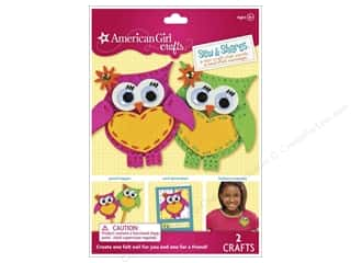 felting kits: American Girl Kit Sew & Shares Owls
