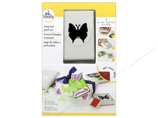 EK Paper Punch & Stamp Set Lace Butterfly
