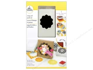 EK Paper Punch & Stamp Set Patterned Greetings