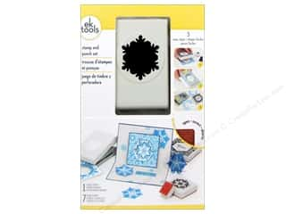 Rubber Stamping paper dimensions: EK Paper Punch & Stamp Set Winter Snowflake