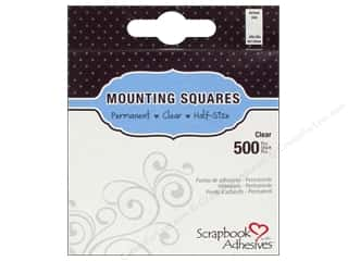 3L: 3L Scrapbook Adhesives Mounting Squares 500 pc. Half-size Clear