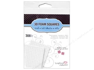 therm o web foam adhesive: 3L Scrapbook Adhesives 3D Foam Squares 308 pc. 1/4 in. White