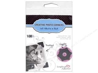 Photo Corners Glue On Photo Corners: 3L Scrapbook Adhesives Photo Corners Paper 108 pc. Black