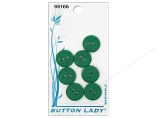 JHB Button Lady Buttons 1/2 in. Forest Green #99165 7 pc.