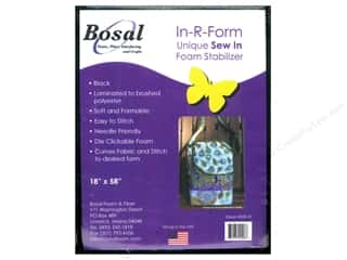 Madeira Thread Sew-In Interfacing / Sew-In Stabilizer: Bosal In-R-Form Sew In Foam Stabilizer 18 x 58 in. Black