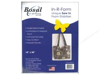 Sew-In Interfacing / Sew-In Stabilizer: Bosal In-R-Form Fusible Foam Stabilizer 18 x 58 in. White