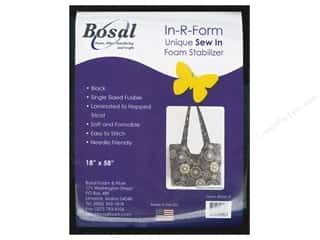 Sew-In Interfacing / Sew-In Stabilizer: Bosal In-R-Form Fusible Foam Stabilizer 18 x 58 in. Black